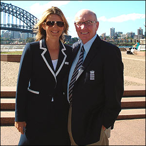 Charlotte Edwards and Jack Birkenshaw