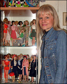 Bettina Dorfmann with some of her collection