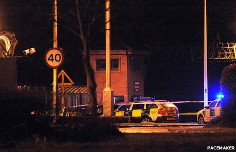 The two soldiers were killed and four other people injured when gunmen struck at Massereene army base in County Antrim.