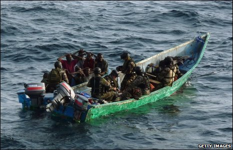 French soldiers arresting pirates off the coast of Djibouti in January 2009