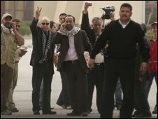 George Galloway at Rafah crossing