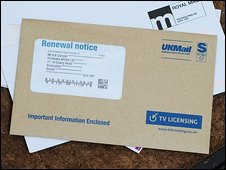 TV licence renewal notice