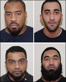 Clockwise from top left Abdul Raheem, Mohamed Nadim, Shabir Mohammed and Shahid Ali.