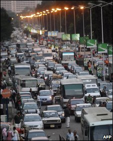 Rush hour traffic, Cairo