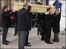 Wendy Richard's casket