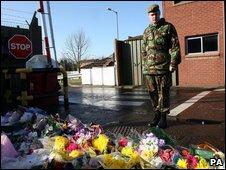 Brigadier Norton with flowers