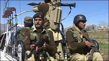 Troops in Bajaur