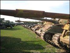 Rusting Soviet tanks