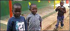 Zambia school children
