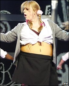 Jo Brand as Britney Spears on 'Let's Dance for Comic Relief'
