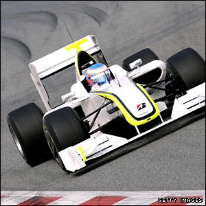 Jenson Button in his Brawn GP car for 2009