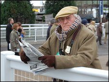 Racegoer at Cheltenham