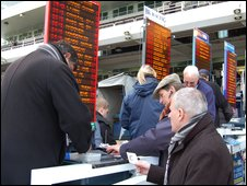 Bookmakers at Cheltenham