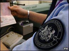 UK immigration staff