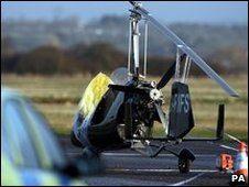 Gyrocopter at scene