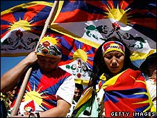 Tibetan activists demonstrate in Washington DC (10 March)