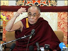 The Dalai Lama makes his anniversary address in Dharamsala (10 March)
