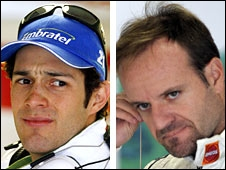 Bruno Senna and Rubens Barrichello