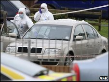 The scene of the shooting in Craigavon
