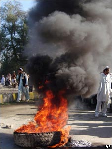 An anti-US demonstration in Khost, Afghanistan