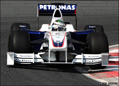 Nick Heidfeld in his BMW Sauber