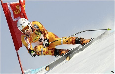 Canada's Robbie Dixon at the Alpine ski men's World Cup finals in Aare, Sweden, 10 March, 2009
