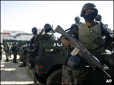 Troops in Ciudad Juarez