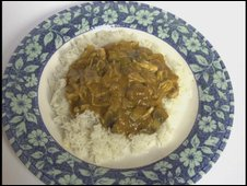Curry on a plate