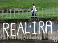Real IRA graffiti in Londonderry, Northern Ireland, November 2007