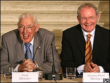 Ian Paisley (left) and Martin McGuinness