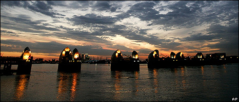 Thames barrier, London (Image: AP)