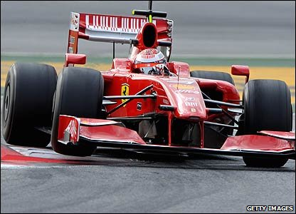 Kimi Raikkonen's Ferrari at the Barcelona test