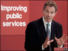 Tony Blair in 2001