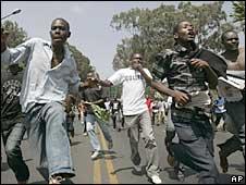 Protesters in Nairobi. Photo: 10/03/09