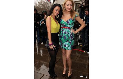 Jennifer Metcalfe and Melissa Walton from Hollyoaks