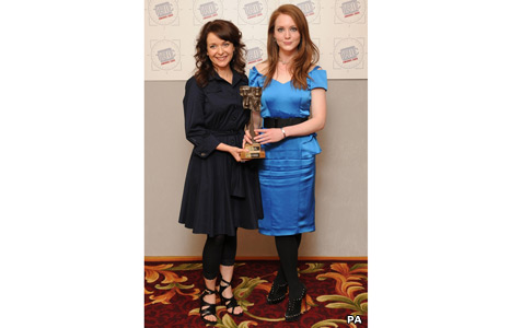 Julia Sawalha and Olivia Hallinan