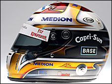 Adrian Sutil's 2009 helmet