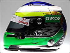 Giancarlo Fisichella's 2009 helmet