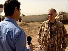 Air Chief Marshal Sir Jock Stirrup talks to the BBC