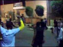 لقطة من الحادث