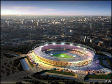 Artist's impression of Olympics stadium