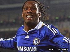 Chelsea goalscorer Didier Drogba
