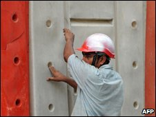 Foreign worker, construction site, KL, Mar 09