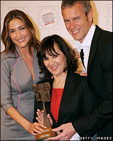 Lisa Snowdon (left), Arlene Phillips and Mark Foster
