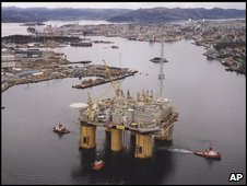 Norwegian oil platform