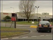 Toyota factory in Flintshire