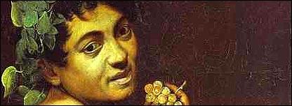 Autorretrato de Caravaggio como Baco de la Galleria Borghese de Roma.