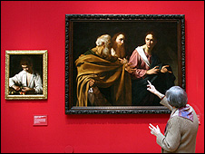 Works by Caravaggio on display