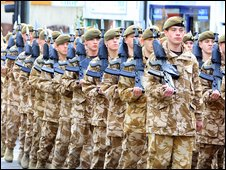 Troops in Watford