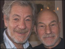 Sir Ian McKellen and Patrick Stewart